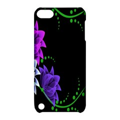 Neon Flowers Floral Rose Light Green Purple White Pink Sexy Apple Ipod Touch 5 Hardshell Case With Stand by Alisyart