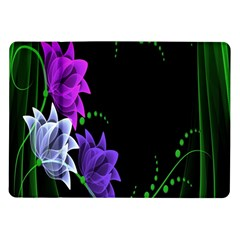 Neon Flowers Floral Rose Light Green Purple White Pink Sexy Samsung Galaxy Tab 10 1  P7500 Flip Case by Alisyart