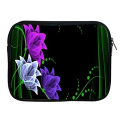 Neon Flowers Floral Rose Light Green Purple White Pink Sexy Apple Ipad 2/3/4 Zipper Cases by Alisyart