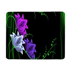 Neon Flowers Floral Rose Light Green Purple White Pink Sexy Samsung Galaxy Tab Pro 8 4  Flip Case by Alisyart