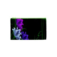 Neon Flowers Floral Rose Light Green Purple White Pink Sexy Cosmetic Bag (xs) by Alisyart