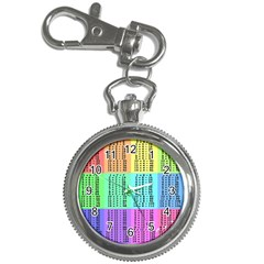 Multiplication Printable Table Color Rainbow Key Chain Watches by Alisyart
