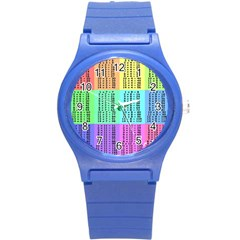 Multiplication Printable Table Color Rainbow Round Plastic Sport Watch (s) by Alisyart