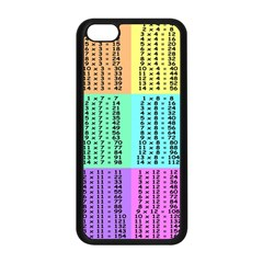 Multiplication Printable Table Color Rainbow Apple Iphone 5c Seamless Case (black) by Alisyart