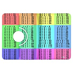 Multiplication Printable Table Color Rainbow Kindle Fire Hdx Flip 360 Case by Alisyart