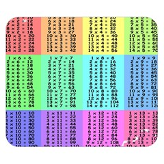 Multiplication Printable Table Color Rainbow Double Sided Flano Blanket (small)  by Alisyart