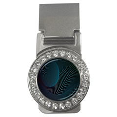 Line Light Blue Green Purple Circle Hole Wave Waves Money Clips (cz)  by Alisyart