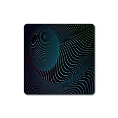 Line Light Blue Green Purple Circle Hole Wave Waves Square Magnet by Alisyart