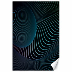Line Light Blue Green Purple Circle Hole Wave Waves Canvas 20  X 30   by Alisyart