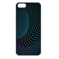 Line Light Blue Green Purple Circle Hole Wave Waves Apple Iphone 5 Seamless Case (white) by Alisyart