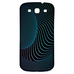 Line Light Blue Green Purple Circle Hole Wave Waves Samsung Galaxy S3 S Iii Classic Hardshell Back Case by Alisyart
