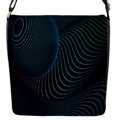 Line Light Blue Green Purple Circle Hole Wave Waves Flap Messenger Bag (s) by Alisyart