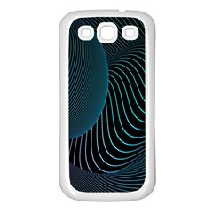 Line Light Blue Green Purple Circle Hole Wave Waves Samsung Galaxy S3 Back Case (white) by Alisyart