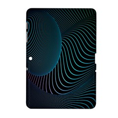 Line Light Blue Green Purple Circle Hole Wave Waves Samsung Galaxy Tab 2 (10 1 ) P5100 Hardshell Case  by Alisyart