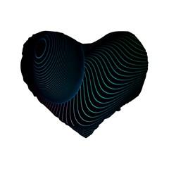 Line Light Blue Green Purple Circle Hole Wave Waves Standard 16  Premium Flano Heart Shape Cushions by Alisyart