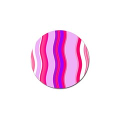 Pink Wave Purple Line Light Golf Ball Marker (4 Pack) by Alisyart