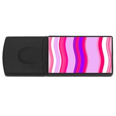 Pink Wave Purple Line Light Usb Flash Drive Rectangular (4 Gb) by Alisyart