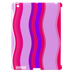 Pink Wave Purple Line Light Apple Ipad 3/4 Hardshell Case (compatible With Smart Cover) by Alisyart