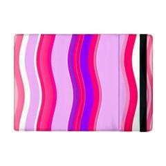 Pink Wave Purple Line Light Apple Ipad Mini Flip Case by Alisyart