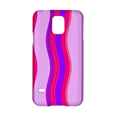 Pink Wave Purple Line Light Samsung Galaxy S5 Hardshell Case  by Alisyart