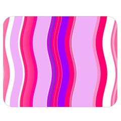 Pink Wave Purple Line Light Double Sided Flano Blanket (medium)  by Alisyart