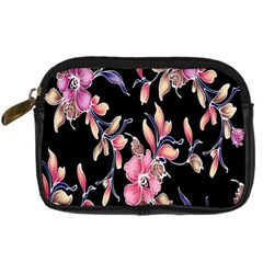 Neon Flowers Rose Sunflower Pink Purple Black Digital Camera Cases by Alisyart