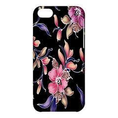 Neon Flowers Rose Sunflower Pink Purple Black Apple Iphone 5c Hardshell Case by Alisyart