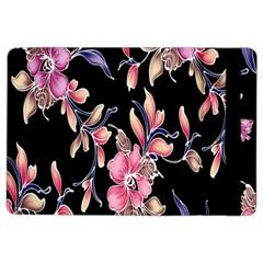 Neon Flowers Rose Sunflower Pink Purple Black Ipad Air 2 Flip by Alisyart