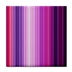 Pink Vertical Color Rainbow Purple Red Pink Line Tile Coasters by Alisyart