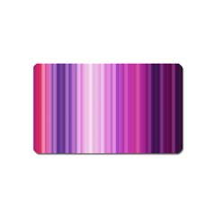 Pink Vertical Color Rainbow Purple Red Pink Line Magnet (name Card) by Alisyart