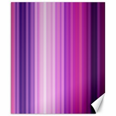 Pink Vertical Color Rainbow Purple Red Pink Line Canvas 8  X 10  by Alisyart