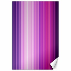 Pink Vertical Color Rainbow Purple Red Pink Line Canvas 20  X 30   by Alisyart