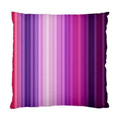 Pink Vertical Color Rainbow Purple Red Pink Line Standard Cushion Case (one Side) by Alisyart