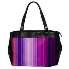 Pink Vertical Color Rainbow Purple Red Pink Line Office Handbags by Alisyart
