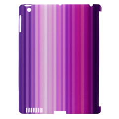Pink Vertical Color Rainbow Purple Red Pink Line Apple Ipad 3/4 Hardshell Case (compatible With Smart Cover) by Alisyart