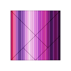 Pink Vertical Color Rainbow Purple Red Pink Line Acrylic Tangram Puzzle (4  X 4 ) by Alisyart