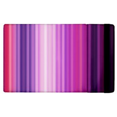 Pink Vertical Color Rainbow Purple Red Pink Line Apple Ipad 3/4 Flip Case by Alisyart