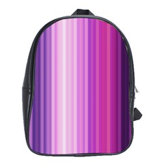 Pink Vertical Color Rainbow Purple Red Pink Line School Bags (xl)  by Alisyart