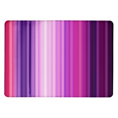 Pink Vertical Color Rainbow Purple Red Pink Line Samsung Galaxy Tab 10.1  P7500 Flip Case by Alisyart