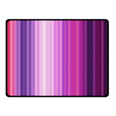 Pink Vertical Color Rainbow Purple Red Pink Line Double Sided Fleece Blanket (small)  by Alisyart