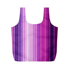 Pink Vertical Color Rainbow Purple Red Pink Line Full Print Recycle Bags (m)  by Alisyart