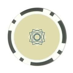 Shape Experimen Geometric Star Plaid Sign Poker Chip Card Guard (10 Pack)