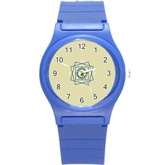 Shape Experimen Geometric Star Plaid Sign Round Plastic Sport Watch (s) by Alisyart