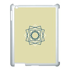 Shape Experimen Geometric Star Plaid Sign Apple Ipad 3/4 Case (white) by Alisyart