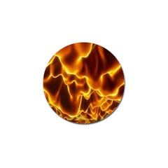 Sea Fire Orange Yellow Gold Wave Waves Golf Ball Marker (10 Pack) by Alisyart