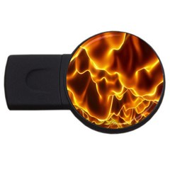 Sea Fire Orange Yellow Gold Wave Waves Usb Flash Drive Round (2 Gb) by Alisyart