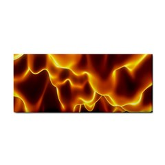 Sea Fire Orange Yellow Gold Wave Waves Cosmetic Storage Cases by Alisyart