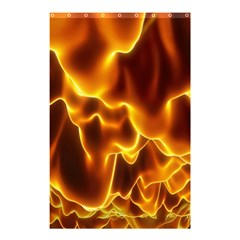 Sea Fire Orange Yellow Gold Wave Waves Shower Curtain 48  X 72  (small)  by Alisyart