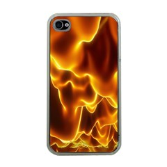 Sea Fire Orange Yellow Gold Wave Waves Apple Iphone 4 Case (clear) by Alisyart