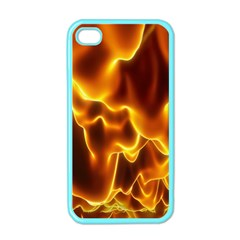 Sea Fire Orange Yellow Gold Wave Waves Apple Iphone 4 Case (color) by Alisyart